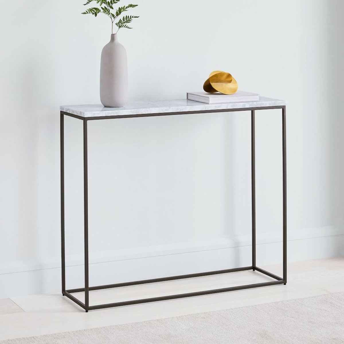 Streamline marble console table