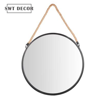 Metal wall mounted hanging mirror