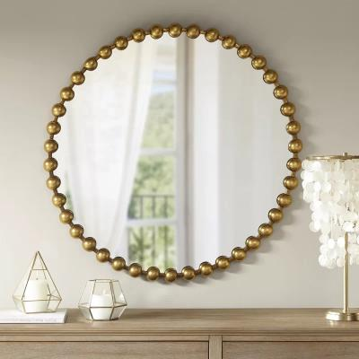Bead wall mirror