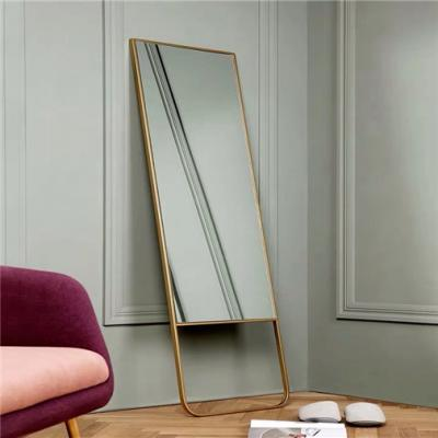 Metal floor standing mirror