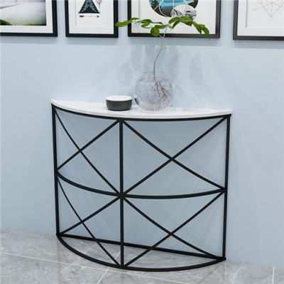 Half round marble console table