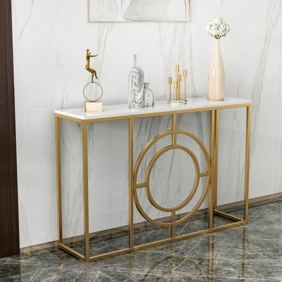 Gold marble console table
