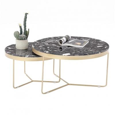 Set of 2 marble coffee table