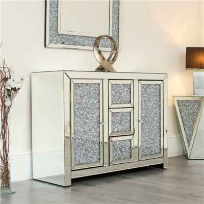 Crushed diamond cabinet