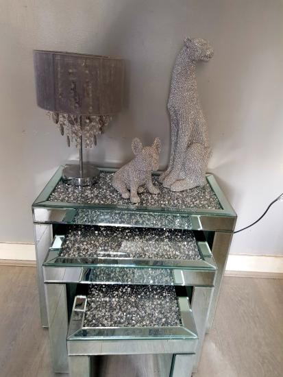 Nest Of 3 Mirrored Side Tables