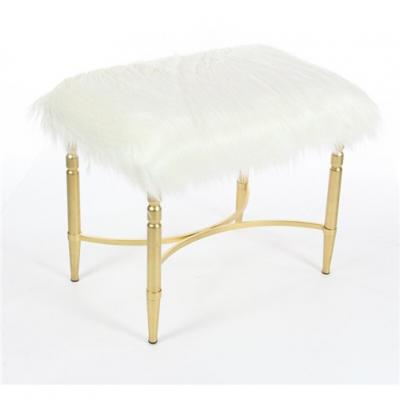 Fur accent stool