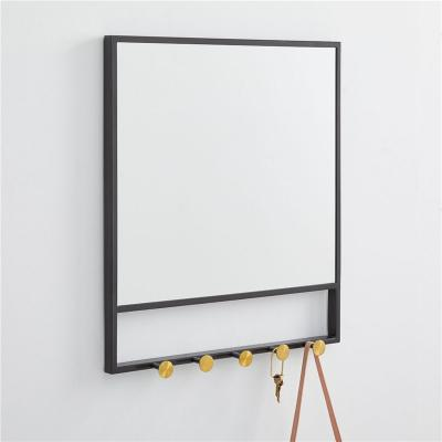Matte mirror with hook