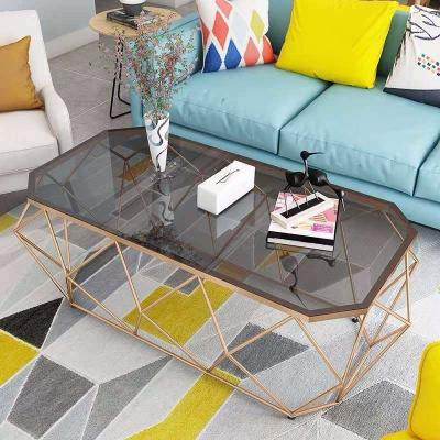 Marble center table with metal leg
