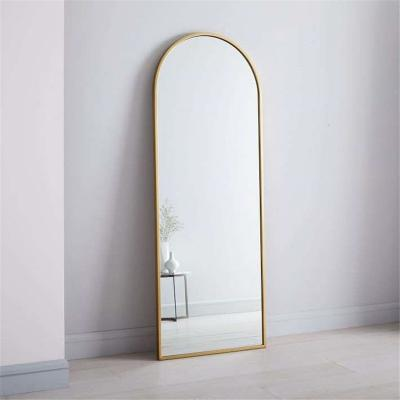 Metal floor standing arch mirror