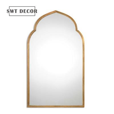 Gold wall arch mirror